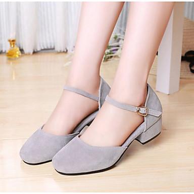 Damen Schuhe PU Sommer Komfort Sandalen Für Normal Grau Rot