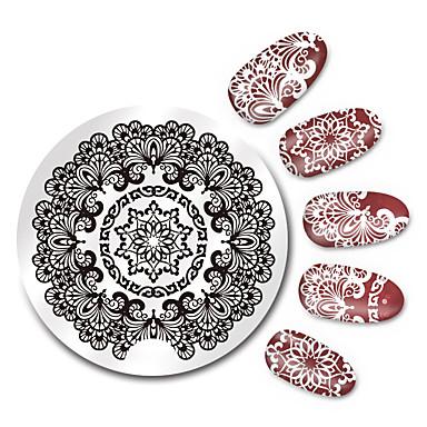 Colto 1 Pcs Piastra Di Stampaggio Modello Manicure Manicure Pedicure Di Tendenza Quotidiano - Piastra Stampaggio #05912025