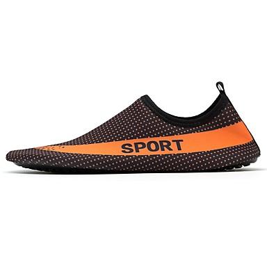Herren Schuhe Elasthan Sommer Leuchtende Sohlen Tauchschuhe Komfort Sportschuhe Wasser-Schuhe Für Sportlich Normal Schwarz/weiss