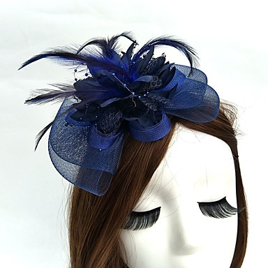 Net Fascinators / Hats / Headwear with Floral 1pc Wedding / Special Occasion Headpiece