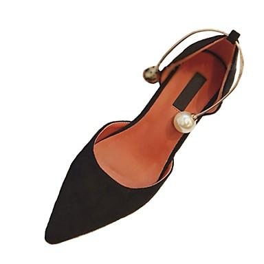 Női Cipő PU Tavasz Kényelmes Magassarkúak Tűsarok Erősített lábujj mert Fekete Sárga