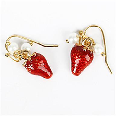 Női Gyümölcs Szintetikus rubin / Gyöngyutánzat Gyöngyutánzat - Személyre szabott / Divat Arany Fülbevaló Kompatibilitás Napi / Hétköznapi