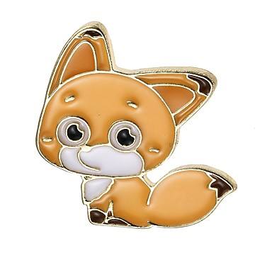 Women's Geometric Brooches - Fox, Animal Classic Brooch Assorted Color For Party / Graduation