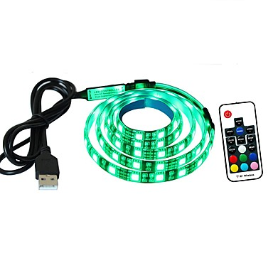 1m Light Sets 60 LEDs RGB Remote Control / RC / Cuttable / Dimmable <5 V 1set / IP65 / Waterproof / Linkable / Self-adhesive / Color-Changing