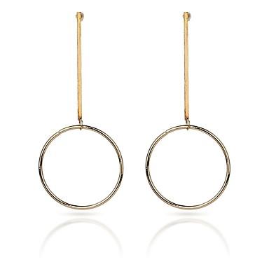 Női Függők - Fémes / Divat Arany / Ezüst Circle Shape / Line Shape Fülbevaló Kompatibilitás Hétköznapi / Előírásos