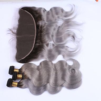 Brazil haj Hullámos haj Emberi haj Hair Vetülék, zárral Emberi haj sző Human Hair Extensions