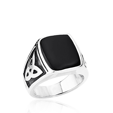 Men's Ring - Stainless Steel, Titanium Steel Personalized, Fashion 7 / 8 / 9 Black For Daily / Casual