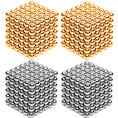 216*4 pcs 3mm Magnet Toy Magnetic Balls Building Blocks Puzzle Cube Metalic Contemporary Classic & Timeless Chic & Modern Stress and Anxiety Relief Office Desk Toys Relieves ADD, ADHD, Anxiety, Autism