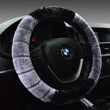 Steering Wheel Covers Artificial Wool 38cm Red / Beige / Gray For Volkswagen / Hyundai CC / Magotan / Sagitar