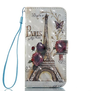 Case For Apple iPhone 7 Plus iPhone 7 Card Holder Wallet Flip Magnetic Pattern Full Body Cases Eiffel Tower Hard PU Leather for iPhone 7