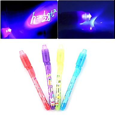 3PCS Invisible Ink Pen Magic Pen Promotional Gifts Pens Secret Writing  2 in 1 Magic Invisible Ink Pen Security Mark For Kids Funny Toys Ramdon Color