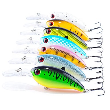 7 pcs Fishing Lures Hard Bait / Crank Plastic / ABS Sea Fishing / Bait Casting / Spinning / Jigging Fishing / Freshwater Fishing / Carp Fishing / Bass Fishing / Lure Fishing