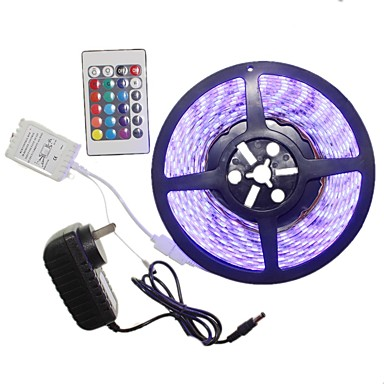 SENCART 5m Light Sets 300 LEDs 5050 SMD RGB Remote Control / RC / Cuttable / Dimmable 100-240 V 1 set / Linkable / Self-adhesive / Color-Changing