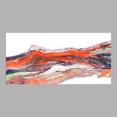 Hang festett olajfestmény Kézzel festett - Landscape Absztrakt Vászon / Hengerelt vászon