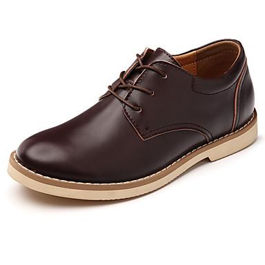 Férfi cipő PU Tavasz Ősz Katonai csizmák Kényelmes Félcipők Fűző mert Hétköznapi Hivatal és karrier Fekete Barna