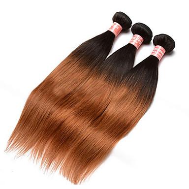 Mongol haj Egyenes Emberi haj sző 3 Ombre