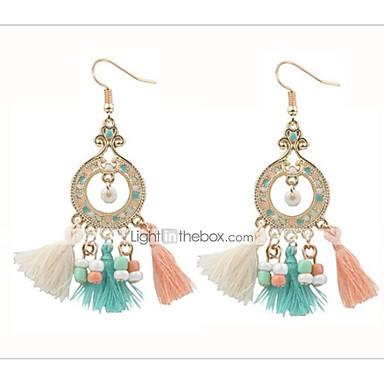 Women's Tassel / Chandelier Drop Earrings - Tassel, Bohemian, Boho White / Red / Rainbow For Party / Going out