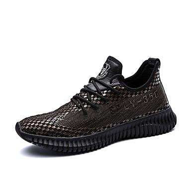 Férfi cipő Személyre szabott anyagok Bőr Tél Ősz Kényelmes Tornacipők Kombinált Fűző mert Hétköznapi Szabadtéri Fekete és arany Fekete és