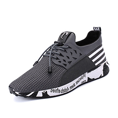 Men's Light Soles PU(Polyurethane) Spring / Fall Comfort Athletic Shoes Walking Shoes Black / Gray / Blue