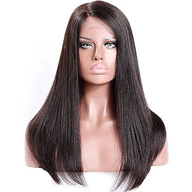Remy haj Tüll homlokrész Csipke eleje Paróka Brazil haj Egyenes yaki Paróka Tincselve 130% 150% 180% Haj denzitás Természetes hajszálvonal 100% Szűz A feldolgozatlan Női Rövid Közepes Hosszú Emberi