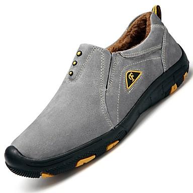 Men's Pigskin Fall / Winter Comfort Loafers & Slip-Ons Dark Blue / Gray / Khaki