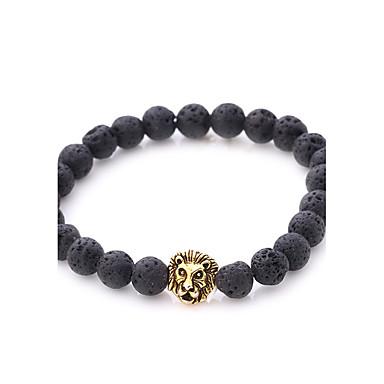 Men's Women's Onyx Strand Bracelet Bracelet - Lion Natural, Punk Bracelet Gold / Silver For Party Gift