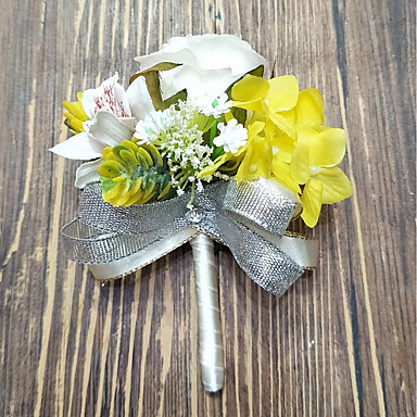 Wedding Flowers Boutonnieres Wedding Polyester 3.94 inch