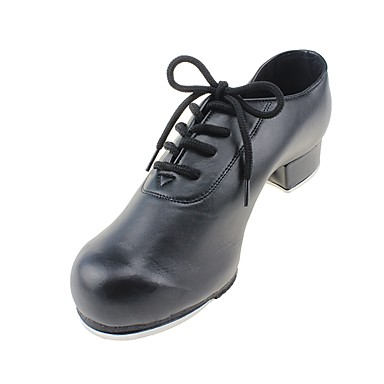 Women's Tap Shoes Canvas / Leatherette Heel Chunky Heel Customizable Dance Shoes Black / Performance