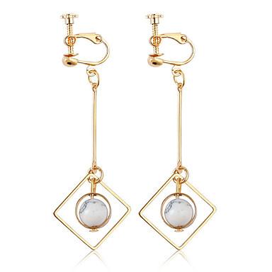 Női Klipszes fülbevalók - Személyre szabott / Divat Arany Geometric Shape Fülbevaló Kompatibilitás Napi / Hétköznapi