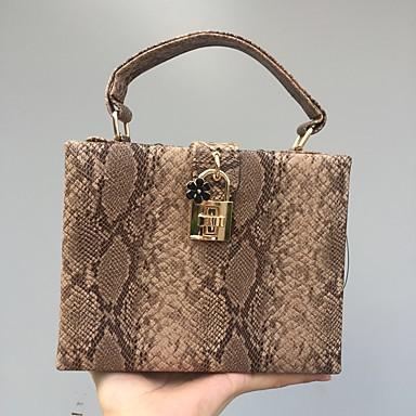 Women's Bags PU Tote Pattern / Print Camel / Khaki
