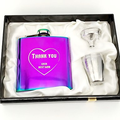 Non-personalized Material Stainless Steel Others Flask Hip Flasks Bride Groom Bridesmaid Groomsman Couple Parents Party Party / Evening