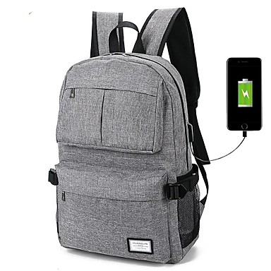 100% Polyester Solid Backpacks 14