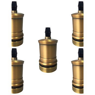 5 pcs E26/E27 Socket Screw Bulbs Metal Shell Medium Base Edison Retro Pendant Lamp Holder Without Switch And Cord