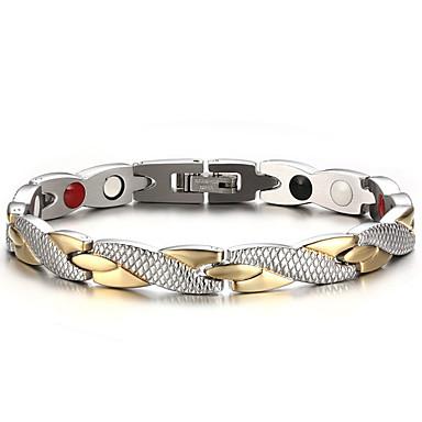 Men's Chain Bracelet / Bangles / Magnetic Bracelet - Titanium Steel Natural, Fashion Bracelet Silver For Gift / Daily