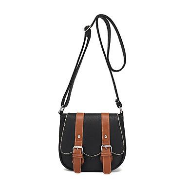 Women's Bags PU Crossbody Bag Buttons Red / Beige / Khaki