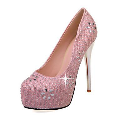 Bout Femme Confort Talon Cristal Polyuréthane Nouveauté de Chaussures Printemps Aiguille Automne 06239083 Or pointu Chaussures mariage AxArwqP