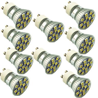 abordables Ampoules électriques-10pcs 1.5 W Spot LED 130 lm GU10 12 Perles LED SMD 5050 Décorative Blanc Chaud Blanc Froid 220 V / 10 pièces