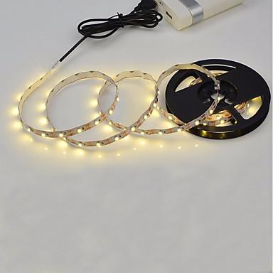 billige LED Strip Lamper-3M Fleksible LED-lysstriper 180 LED 2835 SMD Varm hvit / Hvit Kuttbar / Selvklebende 5 V 1pc