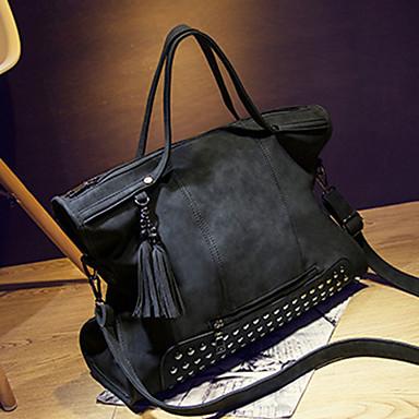 Women's Bags Suede Tote Rivet Black / Gray