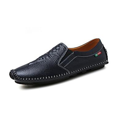 Férfi cipő PU Tavasz Ősz Kényelmes Papucsok & Balerinacipők mert Hétköznapi Fekete Narancssárga Sötétkék
