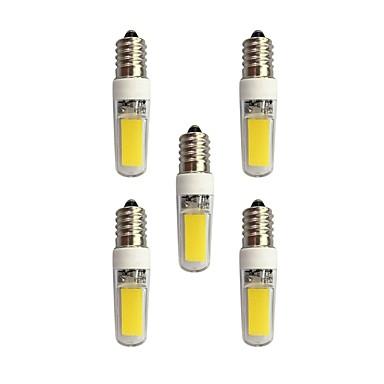 5pcs 3W 240lm E14 LED betűzős izzók T 2 LED gyöngyök COB Meleg fehér / Fehér 220-240V / RoHs