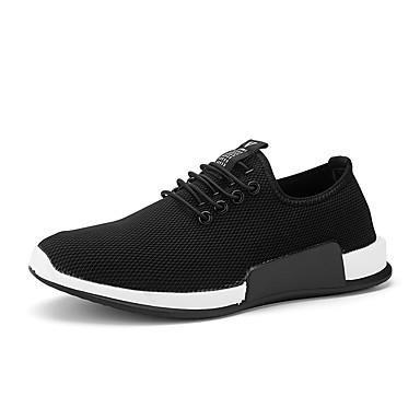 Férfi cipő Kötött Nyár Ősz Mokaszin Kényelmes Sportcipők Futócipő Tépőzár mert Sport Hétköznapi Szabadtéri Fekete Piros