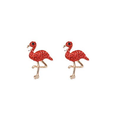 Women's Stud Earrings Drop Earrings - Rhinestone Animal Personalized, Fashion White / Red / Pink For Daily Going out