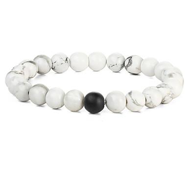 Men's / Women's Charm Bracelet / Strand Bracelet - Personalized, Vintage, Bohemian Bracelet White / Black For Party / Daily / Casual