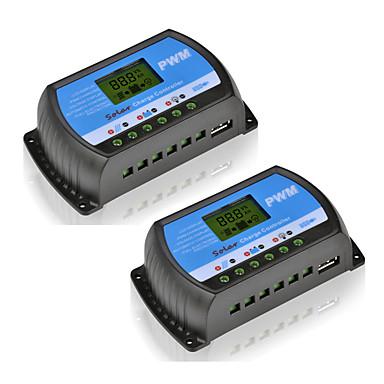 2db rtd-20a 12v 24v napelemes töltés és kisülési vezérlő lcd pwm szolár szabályozó otthoni pv rendszerhez mini töltővezérlés