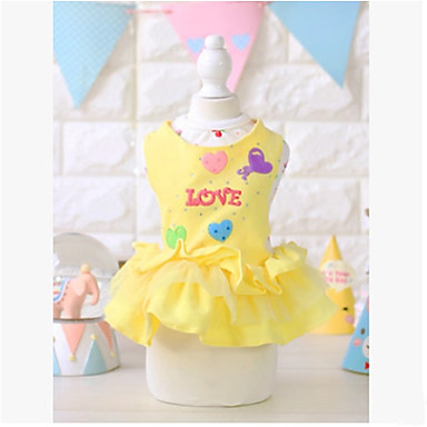Dog Dress Dog Clothes Princess Yellow / Pink Cotton Costume For Pets Summer Men's / Women's Casual / Daily