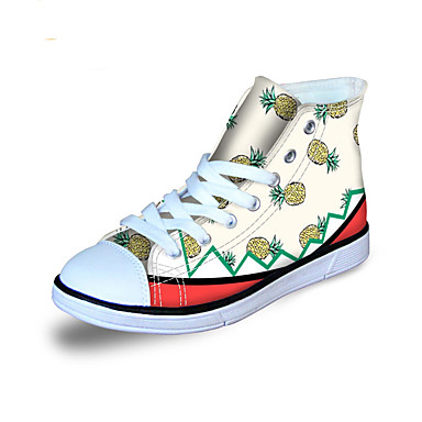 Girls' Shoes Canvas Spring / Fall Comfort Sneakers for White / Green / Blue