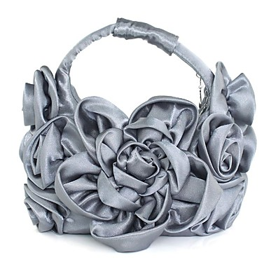 Women's Bags Silk Tote Appliques Gray