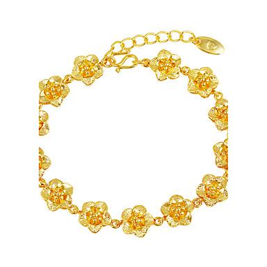Women's Chain Bracelet - Gold Plated Floral / Botanicals, Flower Luxury Bracelet Gold For Wedding Gift