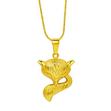 Női Róka Arannyal bevont Nyaklánc medálok  -  Állati Állat Arany Nyakláncok Kompatibilitás Ajándék Munka